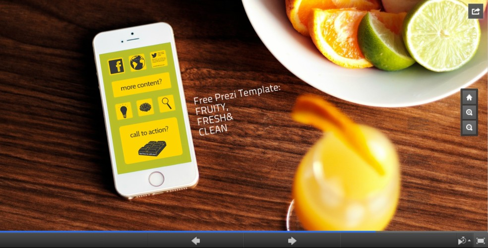 prezi free template fruity fresh theme design